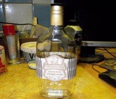 Elegant Laser Cut Wine Label Design Free Vector