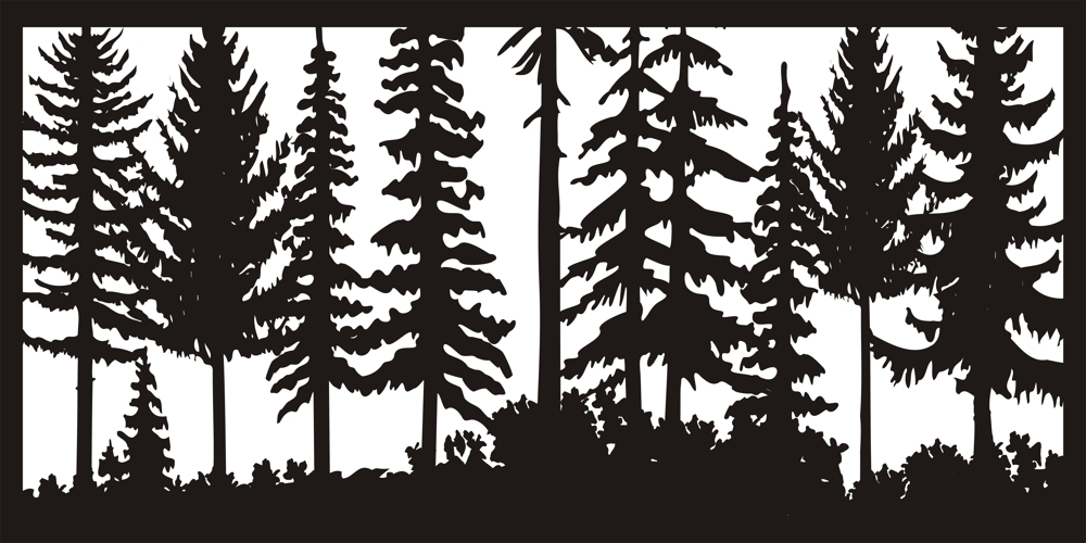 24 X 48 Just Trees Plasma Art DXF File Free Download - 3axis co