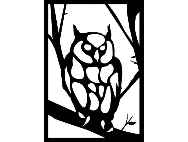 Baykuş 3 Owl Dxf File Free Download 3axis Co