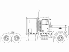 Peterbilt Truck dxf File