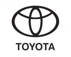 Toyota logo dxf File