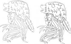 Indian Bear Headdress dxf File