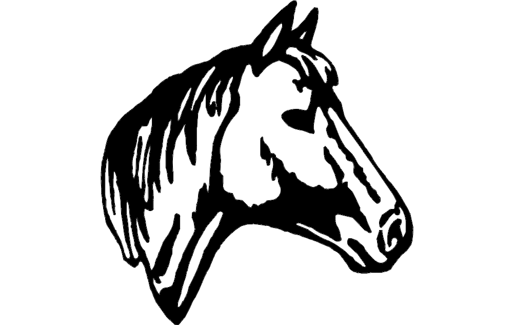 Horse Head 2 Dxf File Free Download 3axis Co