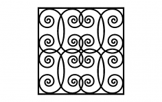 Ironwork Grilles Design dxf File