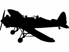 Airplane Vector dxf File
