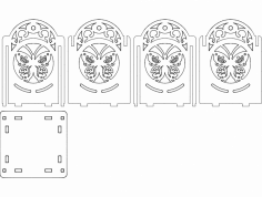 светильник бабочка 100х100х130 4мм dxf File