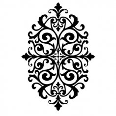 Medallion Stencil design dxf File