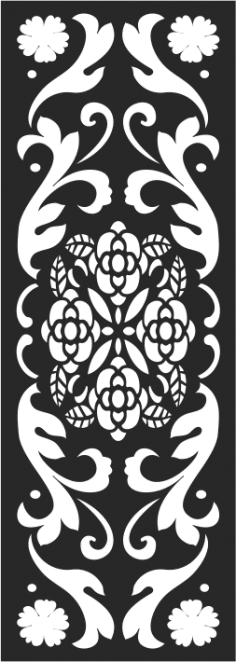 Black And White Floral Pattern CDR File