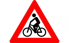 Bicycle Traffic Sign dxf File