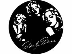 Marilyn clock dxf File