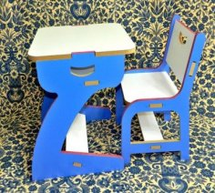 Kids Table Chair CDR File