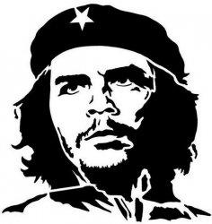 Che Guevara Silhouette dxf File