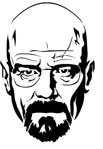 Walter White Heisenberg From Breaking Bad Stencil Dxf File