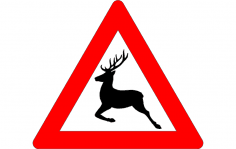 Deer crossing sign dxf File