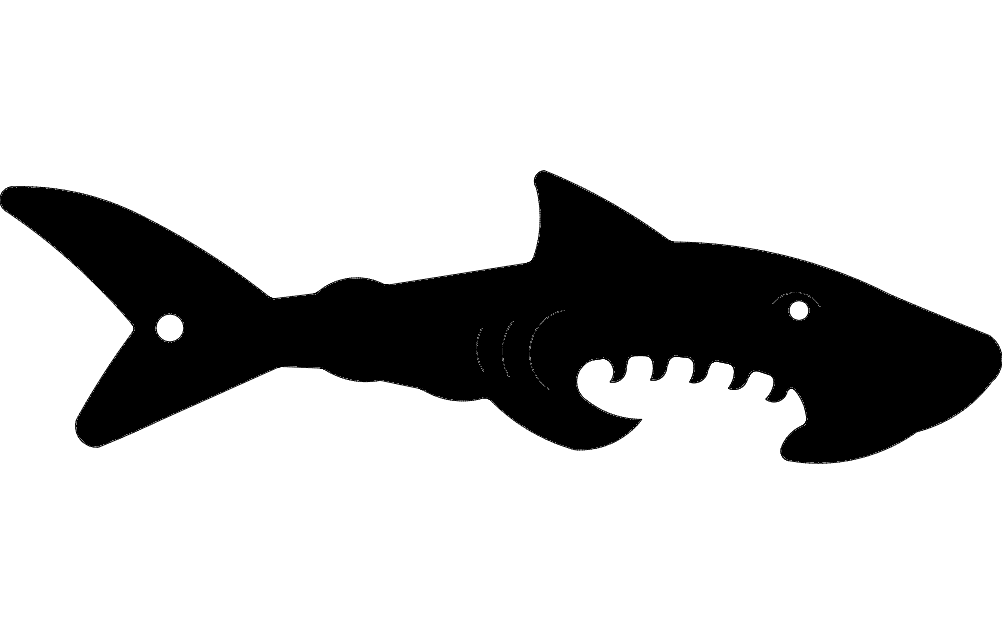 Shark Silhouette Vector Dxf File Free Download 3axis Co