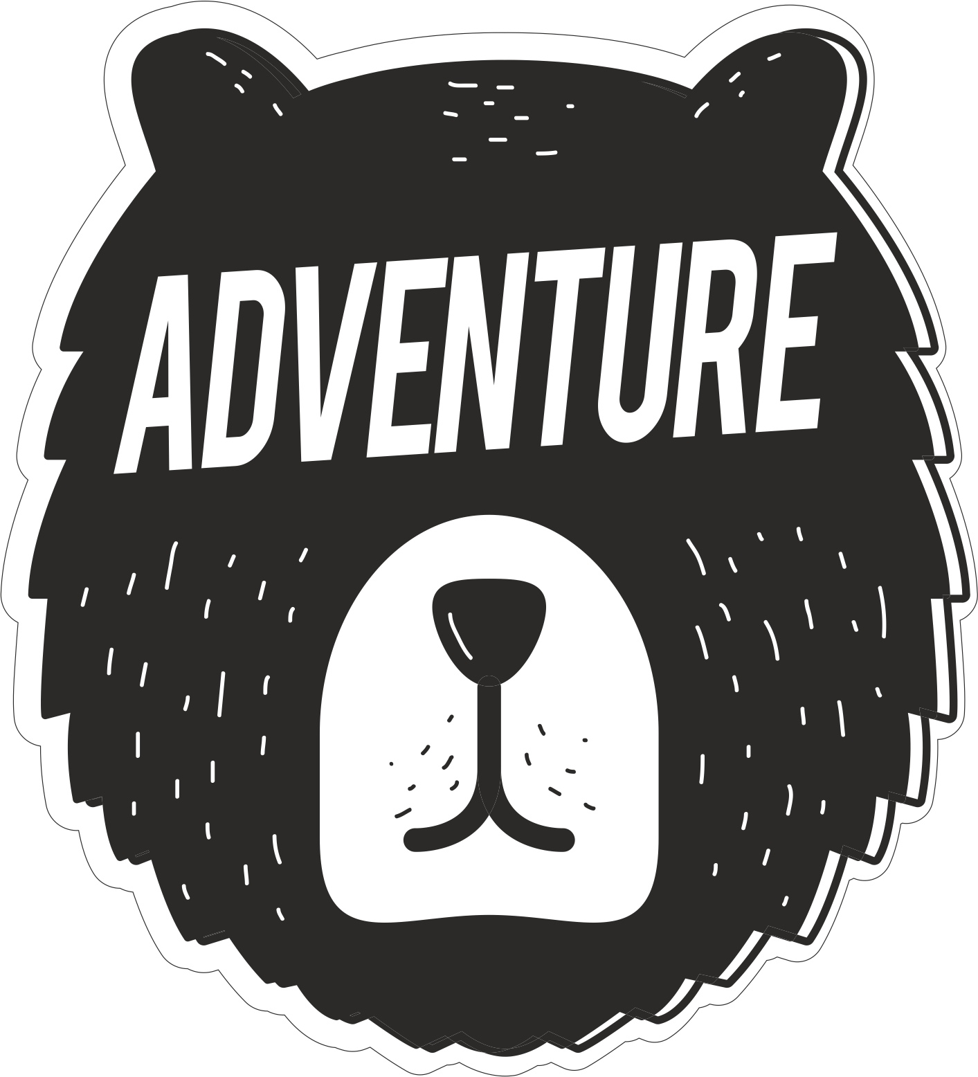 Adventure sticker free vector