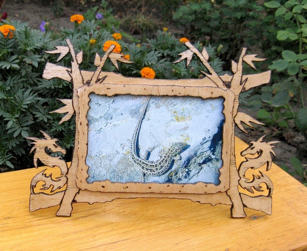 Dragon Picture Frame Design DXF File Free Download - 3axis.co