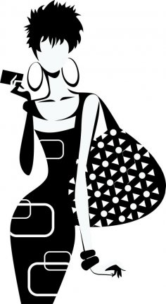 Fashion Girl Silhouette Vector CDR File