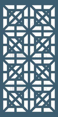 MDF laser-cut panel dxf File