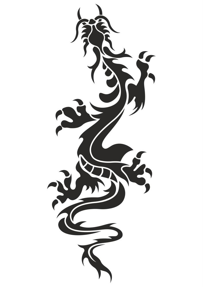 Chinese Dragon Tattoo Vector Free Vector Cdr Download 3axisco