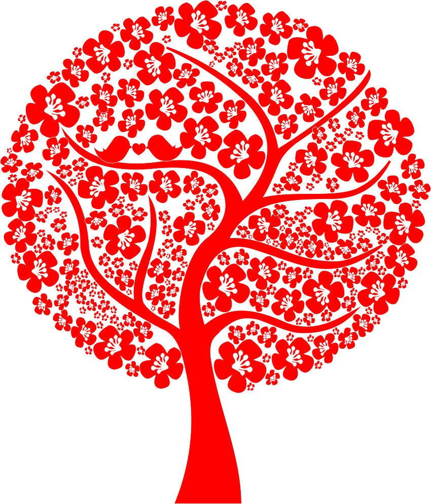 Abstract Love Tree Vector Free Vector cdr Download - 3axis co