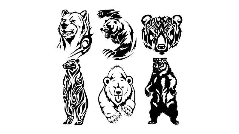 Tribal Bear Vector art CDR File