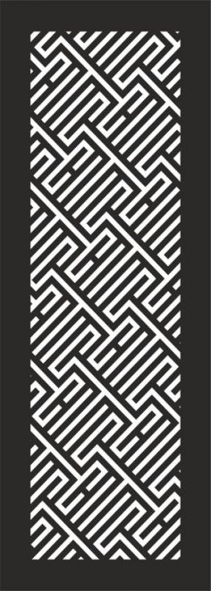 Abstract Striped Geometric Seamless Pattern Vector dxf File