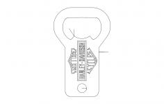 Harley bottle opener dxf File