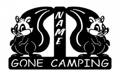Squirrel Gone Camping dxf File