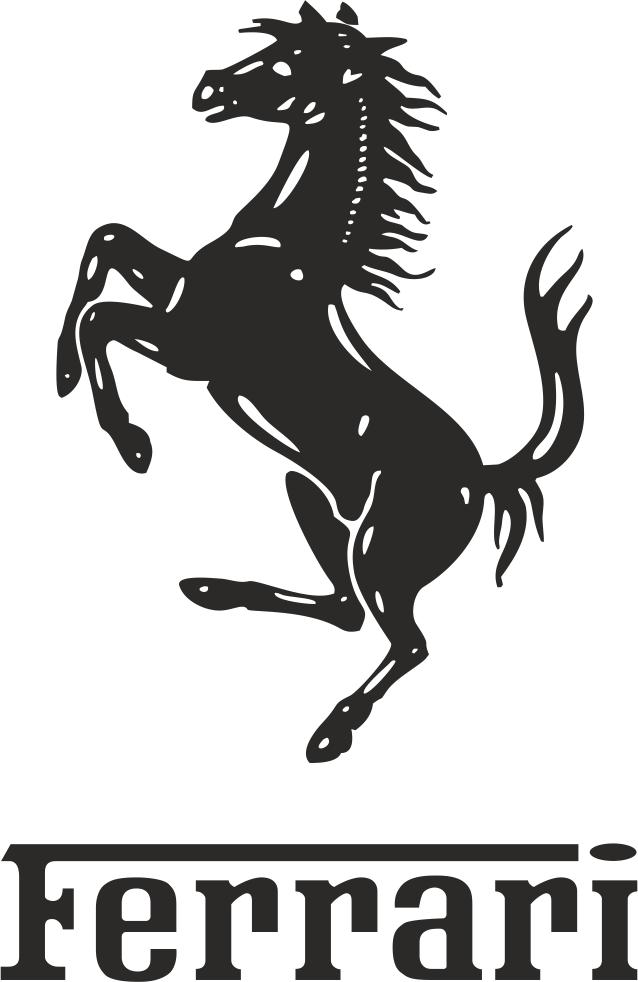 ferrari logo vector free vector download