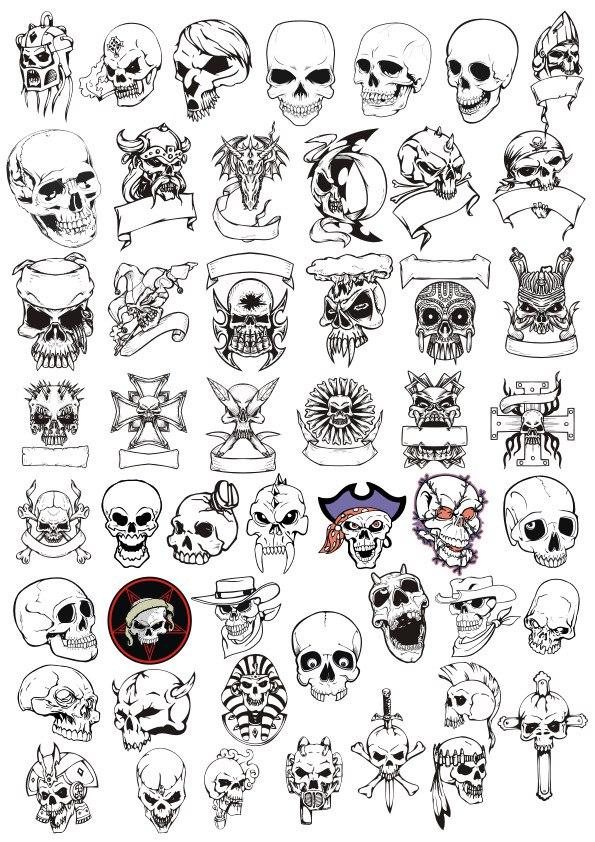 Horror Skulls Vector Art Collection CDR File