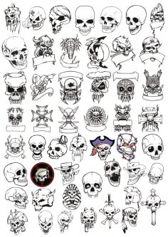 Horror Skulls Vector Art Collection CDR File