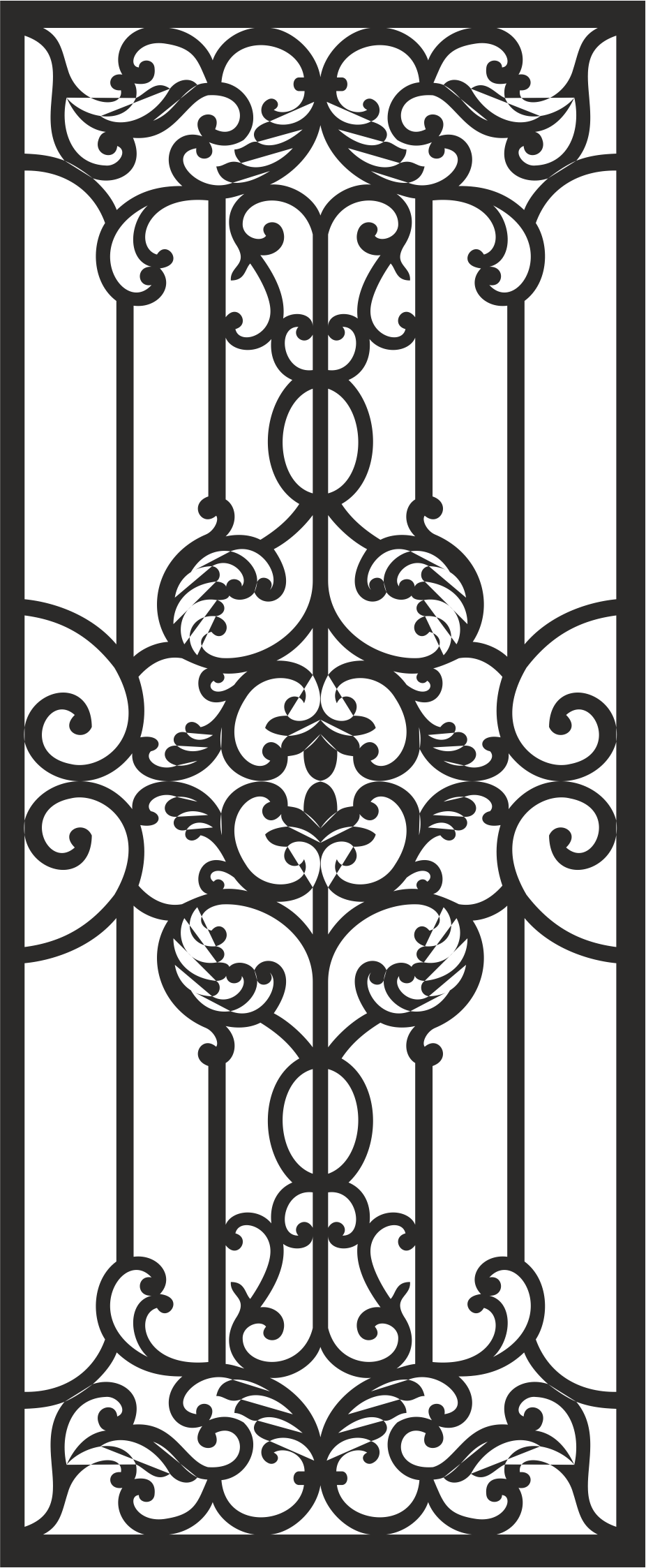 Home Iron Grills Design Vector CDR File