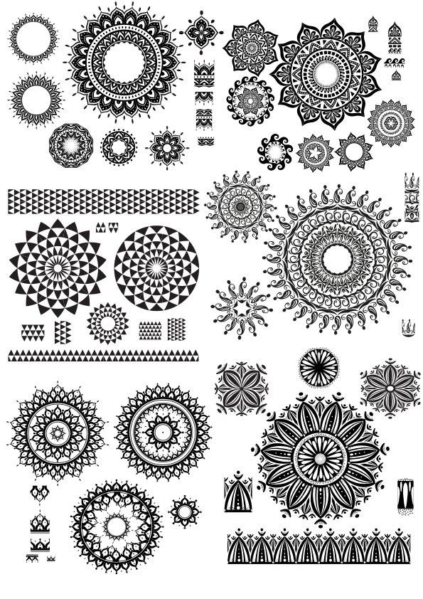 Geometric Circle Design Vector Art CDR File