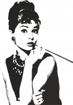 Audrey Hepburn Vector Art CDR File