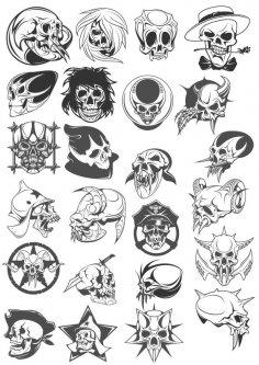 Skull Vector Pack CDR File