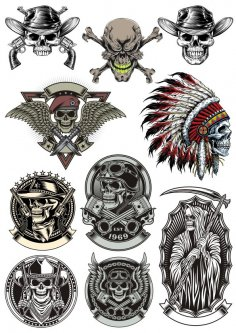 Skull Vector Collection CDR File