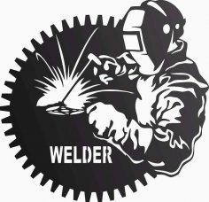 Welder In Workshop DXF File