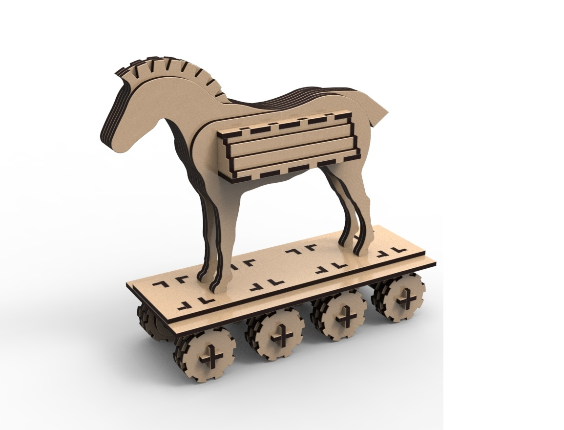 Laser Cut Trojan Horse Free Vector Cdr Download 3axis Co