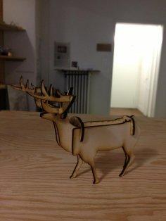 Laser Cut Stag Deer DXF File