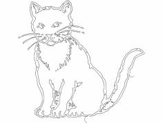 Gato (Cat) dxf File