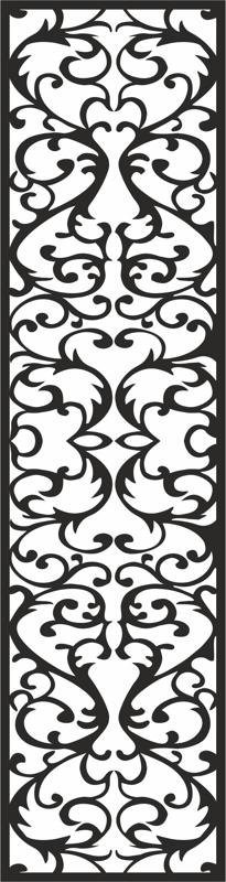 Living room glass paste pattern CDR File
