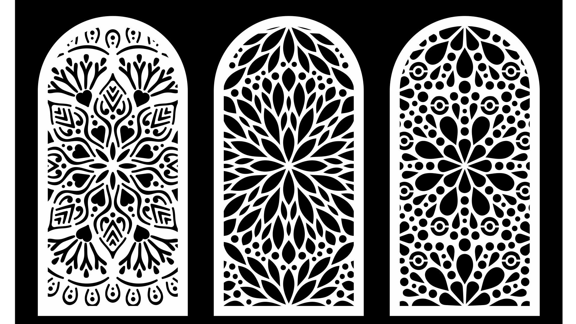 Cool Decorative Screens Panels Laser Cut Dxf File Free