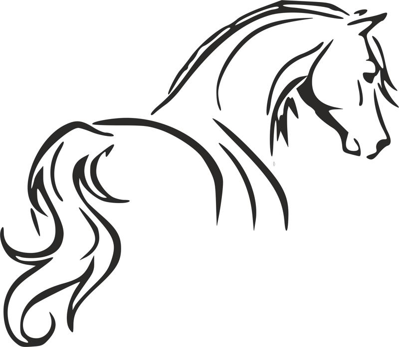 tribal tattoo horse outline stencil dxf file free download 3axis co rh 3axis co horse head outline tattoo small horse outline tattoos