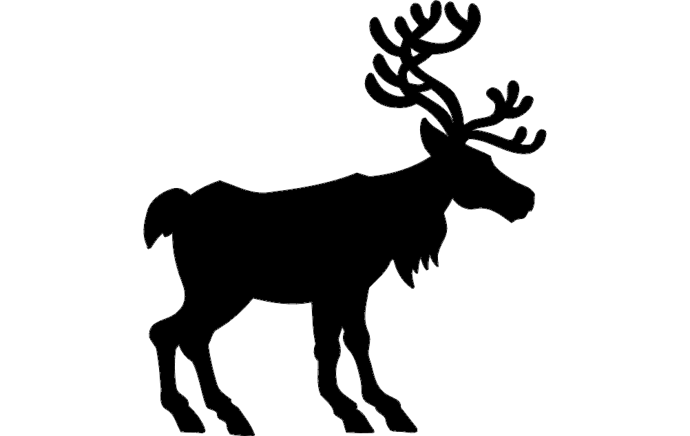 Deer Silhouette Vector Dxf File Free Download 3axis Co