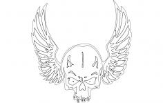 Wing Skull dxf File