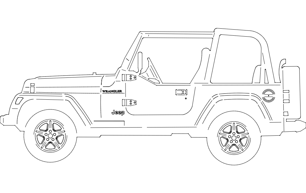 Jeep Side Dxf File Free Download 3axis Co