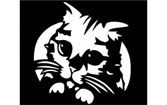Kitty dxf File
