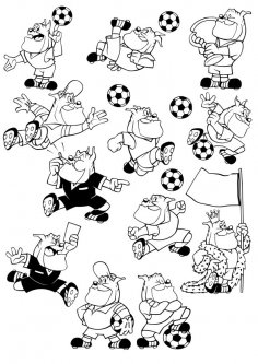 Cartoon Football Dog CDR File