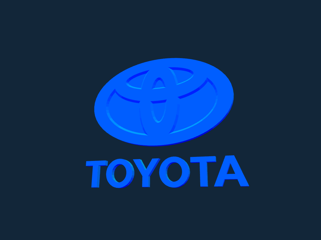 Mercedes Benz Logo Png >> Toyota Logo stl file Free Download - 3Axis.co
